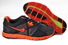 on sale 69c1c deaa3 Nike LunarGlide+ 3 Mens Running Shoe Dark Grey Total Orange For Sale