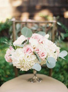 Roses and hydrangeas: http://www.stylemepretty.com/2015/03/16/elegant-pastel-wedding-in-mansfield-texas/ | Photography: Heather Hawkins - http://www.heatherhawkinsphoto.com/