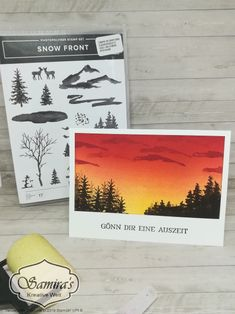 basteln Sonnenuntergang - Kreative Ideen rund um Papier How To Choose The Right Faucet Today's fauce Fall Cards, Winter Cards, Stampin Up Christmas, Christmas Art, Winter Karten, Stamping Up Cards, Watercolor Cards, Sympathy Cards, Masculine Cards