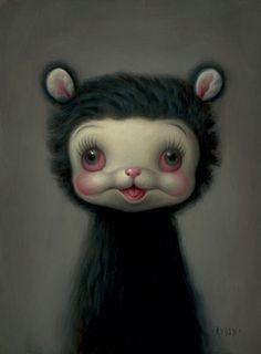 Painting by Mark Ryden - Grey Animal Mark Ryden, Art Sinistre, Arte Lowbrow, Art Kawaii, Arte Peculiar, Art Mignon, Arte Horror, Art Et Illustration, Art Illustrations