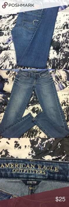 🔥 American Eagle Jegging Jeans Size 0 Long American Eagle Jegging Jeans   ,Please Refer to the Pictures  Size 0 Long  Measurements:  Waist - 13.5 (27) in  Rise - 7 in  Inseam - 31 in  Leg Opening - 4.5 in  Thank You for checking Out This Item :) , Be sure to add other Items from my Closet to Your Bundle before you Checkout for 10% off your order!  Fishman24 - X67 Cross American Eagle Jeans