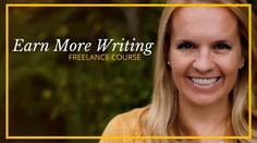 Welcome to the best freelance writing course on the web! Learn the techniques I use to make over $200K per year as an online freelance writer. Enroll here now!