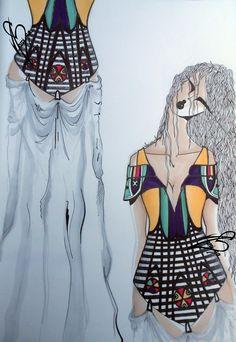 #fashion #moda #fashiondesign #corset #glasswall #glasswindow #design #fashiondesigner #designer #style #look  #art