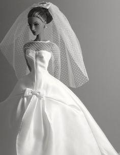 Bride black and white photograph
