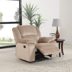 online shopping for Divano Roma Furniture Oversize Brush Microfiber Rocker Swivel Recliner Living Room Chair (Beige) from top store. See new offer for Divano Roma Furniture Oversize Brush Microfiber Rocker Swivel Recliner Living Room Chair (Beige) Living Room Chairs, Living Room Furniture, Home Furniture, Furniture Ideas, Swivel Recliner Chairs, Recliners, Armchair With Ottoman, Sofa Bed With Storage, Industrial Dining Chairs
