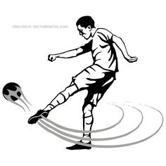 Soccer Volley Shot Image Free Vector