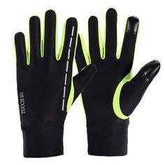 Mens Women Warm Fleece Outdoor Ski Cycling Gloves Full Finger Windproof Touch Screen Gloves  men fashion accessories