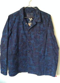 Scotch & Soda - Iindigo Camo Railroad Jacket - Garment Dye