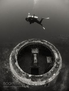 Photograph A Diver and a Shipwreck by Boaz Meiri on 500px