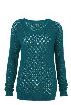 Lacy Stitch Knit Sweater