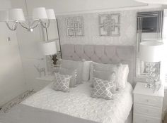 Bedroom ideas, just comfortable room decorating proposal 2529117852 . Grey Bedroom Design, Grey Bedroom Decor, Small Room Bedroom, Home Bedroom, Bedroom Ideas, Suites, Luxurious Bedrooms, Beautiful Bedrooms, Christmas Decorations