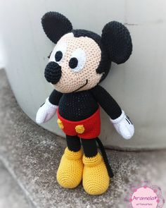 Amigurumi Mini And Mickey Mouse (Disney) Free Pattern – Free Amigurumi Crochet : Amigurumi Mini And Mickey Mouse (Disney) Free Pattern – Free Amigurumi Crochet free pattern disney mickey mouse pattern disney minnie mouse Crochet Amigurumi Free Patterns, Crochet Animal Patterns, Stuffed Animal Patterns, Crochet Mickey Mouse, Crochet Disney, Miki Mouse, Crochet Baby Toys, Knitted Cat, Miki Fare