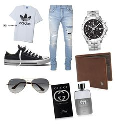 """demo"" by jana-zy on Polyvore featuring adidas, Balmain, Converse, TAG Heuer, Tod's, Ray-Ban, Gucci, men's fashion and menswear"