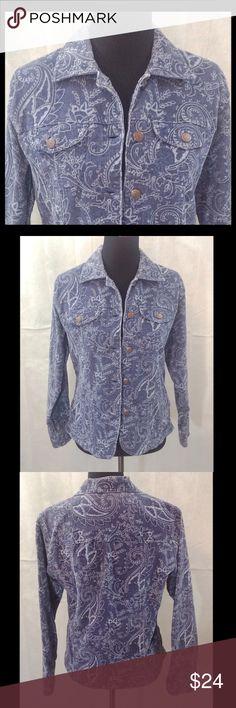 "Bill Blass Blue Jacket ""Bill Blass Jeans"" blue and light blue jacket. Machine wash cold. Bill Blass Jeans Jackets & Coats"