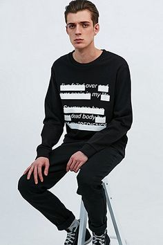 Cheap Monday Subtitles Sweatshirt in Black - Urban Outfitters
