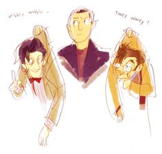 Nine having to take care of ten and eleven :) Because he is just awesome like that!