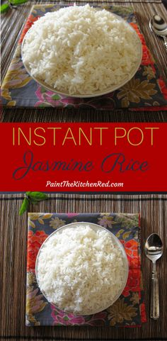 Fragrant Instant Pot Jasmine Rice - Paint The Kitchen Red. Fragrant Instant Pot Jasmine Rice - Paint The Kitchen Red Jasmine Rice Recipes, Cooking Jasmine Rice, Cooking Rice, Cooking Bacon, Pots, Pressure Cooking Recipes, Best Instant Pot Recipe, Instant Pot Jasmine Rice Recipe, Instant Pot Pressure Cooker