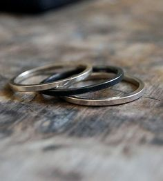 Sterling Silver Stacking Rings – Set of 3 by Kusu on Scoutmob Shoppe