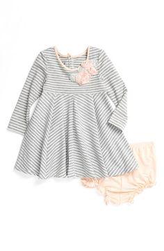 Pippa & Julie Stripe Dress (Baby Girls) | Nordstrom Big sister outfit- Newborn photos