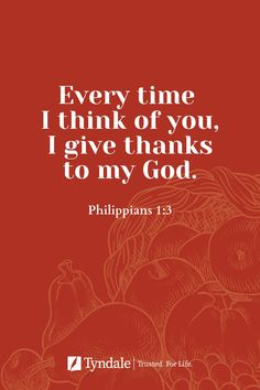 """When was the last time you told someone """"I thank God for you""""? Do it today, and share why, to encourage them! Read more from our blog, The Arc, on the essential posture of thankfulness."""