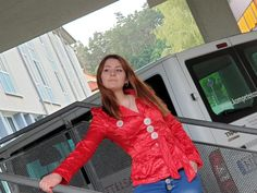 Red Leather, Leather Jacket, Models, Blazer, Button, Tops, Jackets, Shopping, Big