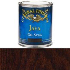 Java Gel Stain, Pint, Brown