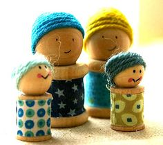 fun crafts to do with embroidery thread   Spool People - Things to Make and Do, Crafts and Activities for Kids ...