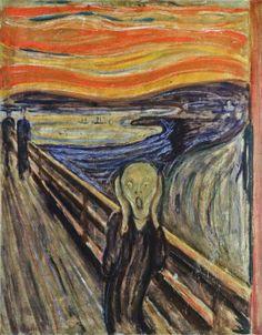 Edvard Munch, Le cri   Edvard Munch est un peintre expressionniste norvégien né le 12 septembre 1863 à Løten et décédé le 23 janvier 1944 à Ekely.
