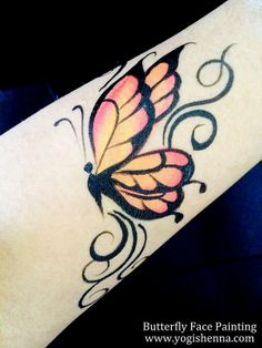 Butterfly Face Painting Tattoo Design