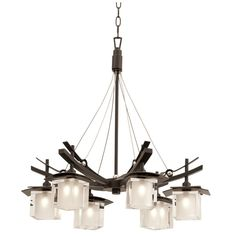 Nijo 6 Light Chandelier | kalco