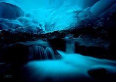Cuevas de hielo Mendenhall, Juneau, Alaska.