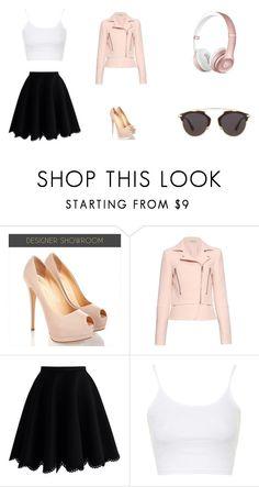 """PINK !!"" by niurkajm on Polyvore featuring moda, Balenciaga, Chicwish, Topshop y Christian Dior"