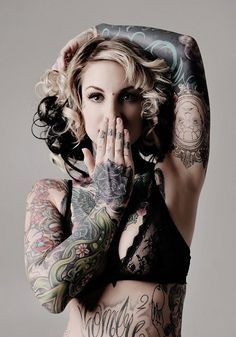 Leading Tattoo Magazine & Database, Featuring best tattoo Designs & Ideas from around the world. At TattooViral we connects the worlds best tattoo artists and fans to find the Best Tattoo Designs, Quotes, Inspirations and Ideas for women, men and couples. Tattoo Girls, Sexy Tattoos For Girls, Sleeve Tattoos For Women, Inked Girls, Girl Tattoos, Tattoo Sleeves, Women Sleeve, Fake Tattoo, Tattoo You