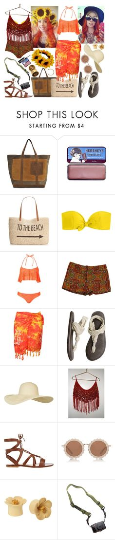 """""""beatrice wilder - summer lookbook 2016 (2 vacation outfits)"""" by kinathegreat ❤ liked on Polyvore featuring Vanessa Bruno, on10, Style & Co., J.Crew, Topshop, sanuk, Gianvito Rossi, House of Holland, Hot Topic and DSPTCH"""