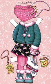 Let's Skate  paper doll outfit  Ann Estelle  2000 Tonner Mary Engelbreit Comparison Guide