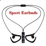 #8: Bluetooth Headphones eBus Professional Sport Wireless Earbuds V4.1 with Microphone Superb Stereo Sound Universal Headsets Sweatproof Easy Pairing all Smart Phones and computers devices (Black)