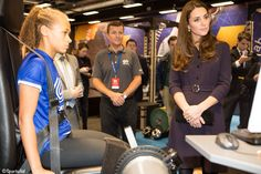 The Duchess was shown several methods of evaluation during the workshop. Nov 12.