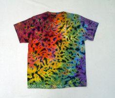 Large Tie-Dye Shirt Rainbow Scrunch by TieDyeBySandy on Etsy