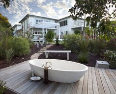 A bath for two?   Eagle Bay Ocean Hideaway | Guest House in Eagle Bay, WA | Accommodation