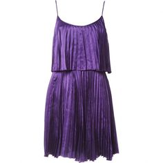 Pre-owned Halston Heritage Silk Mid-Length Dress found on Polyvore featuring dresses, sleeveless dress, purple, silk cocktail dress, sleeveless cocktail dress, halston heritage, pre owned dresses and preowned dresses