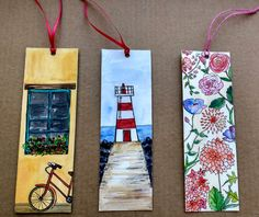 Check out this item in my Etsy shop https://www.etsy.com/listing/489564715/hand-painted-bookmarks-original-handmade