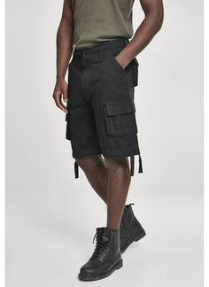 Brandit Cargoshorts in schwarz Farmer, Hip Hop, Leggings, Men, Products, Fashion, Cotton, Totes, Black