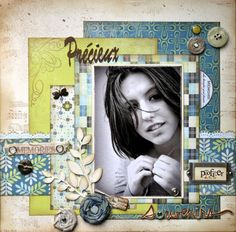 Scrapbook Layout ~ 1 Photo black and white