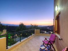 Rethymno villa rental - Villa Eleni-The balcony is equipped with patio furniture! Old City, Villas, Balcony, Old Things, Deck, Patio, Building, Outdoor Decor, Holiday