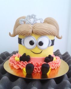 minion cake girl princess                                                                                                                                                     More