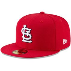 10113251093 St. Louis Cardinals New Era Cooperstown Collection 1982 World Series Side  Patch 59FIFTY Fitted Hat