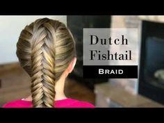 Dutch Fishtail Braid by Holster Braids - YouTube