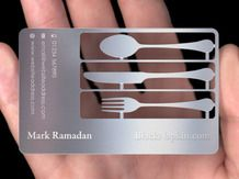 Cutting & Etching on Marine Grade Stainless Steel Business Card.