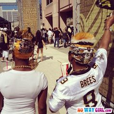 New Orleans Saints Hairstyles | NoWayGirl.com