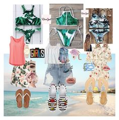 """""""Fun in the Sun"""" by joy-chiquita-godboldo ❤ liked on Polyvore featuring Frame, prAna, Hollister Co., BP., American Eagle Outfitters, Fendi, Mark Cross, Les Néréides and Kate Spade"""
